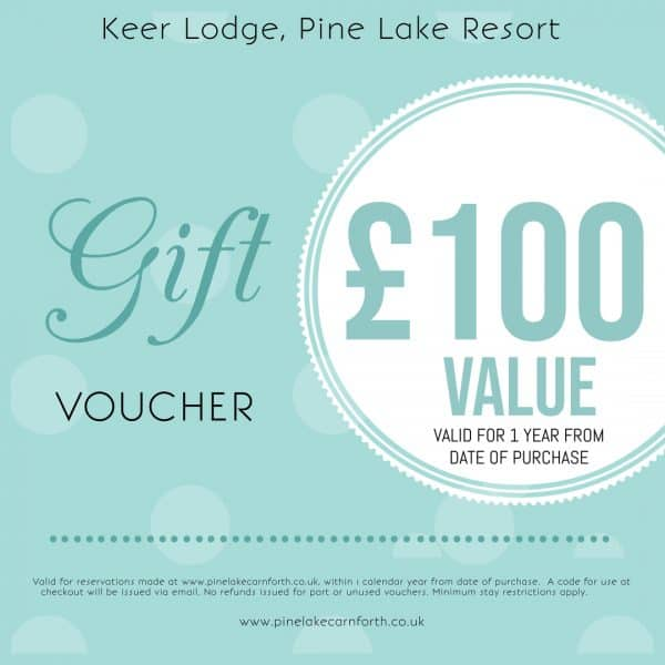 Keer Lodge, Pine Lake Resort. £100 Gift voucher.