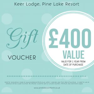 Keer Lodge, Pine Lake Resort. £400 Gift voucher.