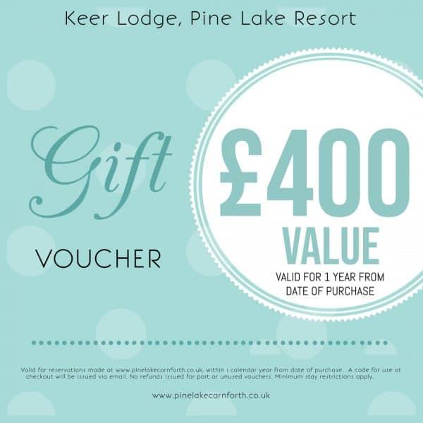 Keer Lodge, Pine Lake Resort. £400 Gift voucher.