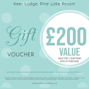 Keer Lodge, Pine Lake Resort. £200 Gift voucher.